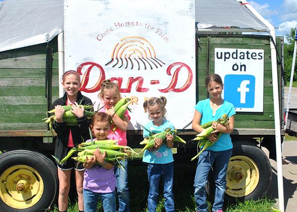 kids with corn blog
