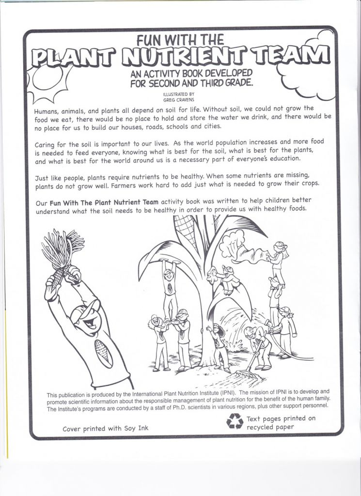 Fun with the Plant Nutrient Team Book 2 – Nutrients for Life